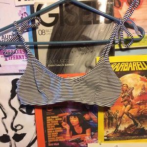 Striped Forever 21 Bikini Top
